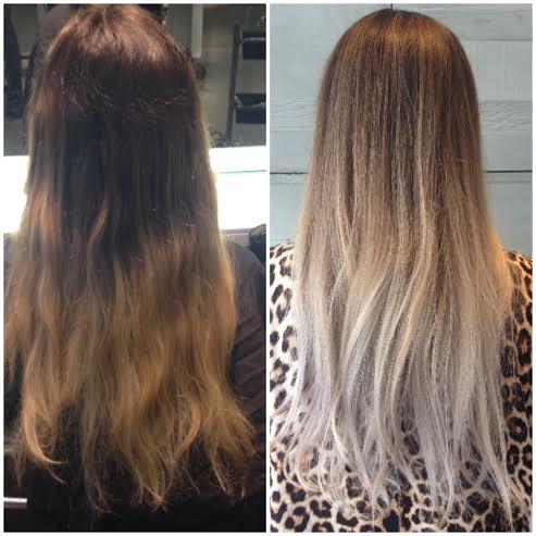 Going Blonde Olaplex Dark To Light Hair In One Stage